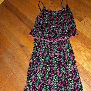 a geometric patterned dress!